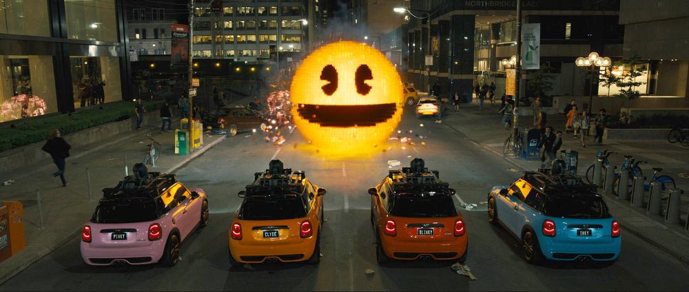 Pac-Man im Duell mit den etwas anderen Geistern.