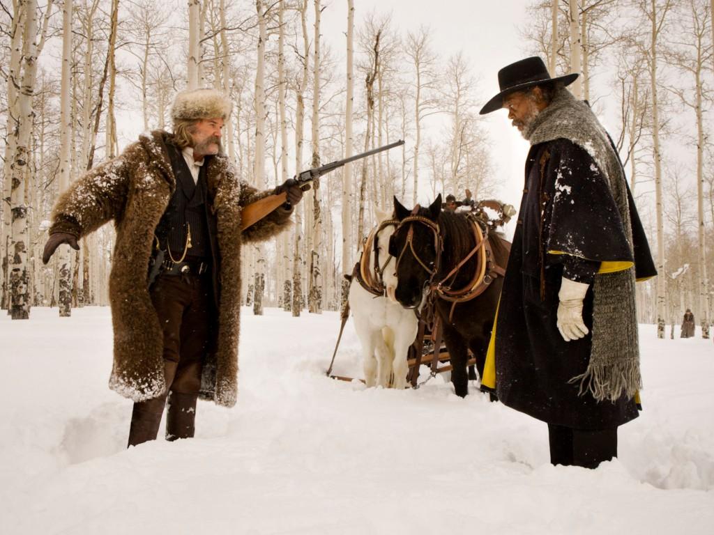Kurt Russel (l.) und Samuel L. Jackson stehen im Fokus des neuen Tarantino-Films.