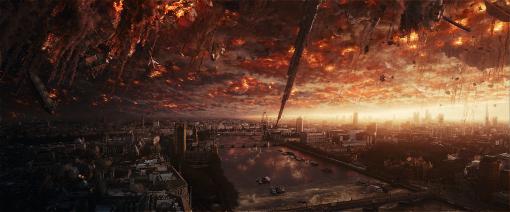Die Aliens verwüsten die Erde bei ihrer Ankunft. Quelle: © 20th Century Fox